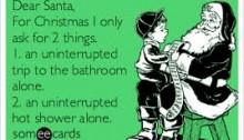 santa alone