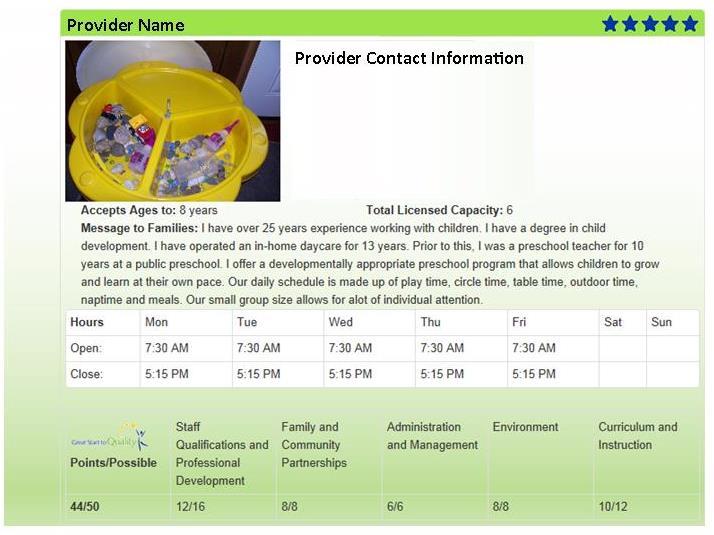 Provider Screen Shot