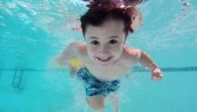 boy swiming