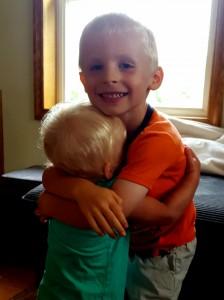 camden and kaylee hugging