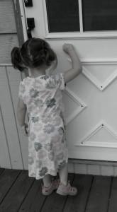 madison knocking on door