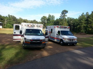 two ambulances