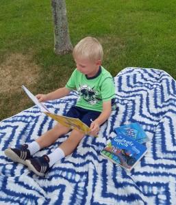 cam reading on blanket