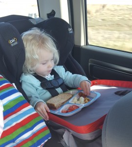 Kaylee eating in car